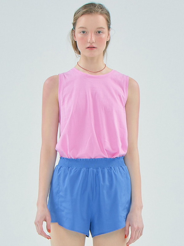 Boxy Sleeveless T /Pink