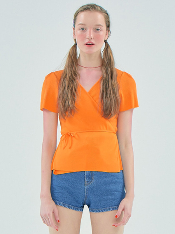 Cross unbalance Top_Orange