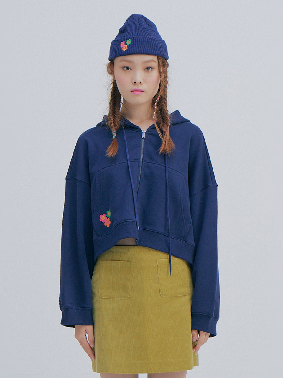 Short Hood Jumper_Navy