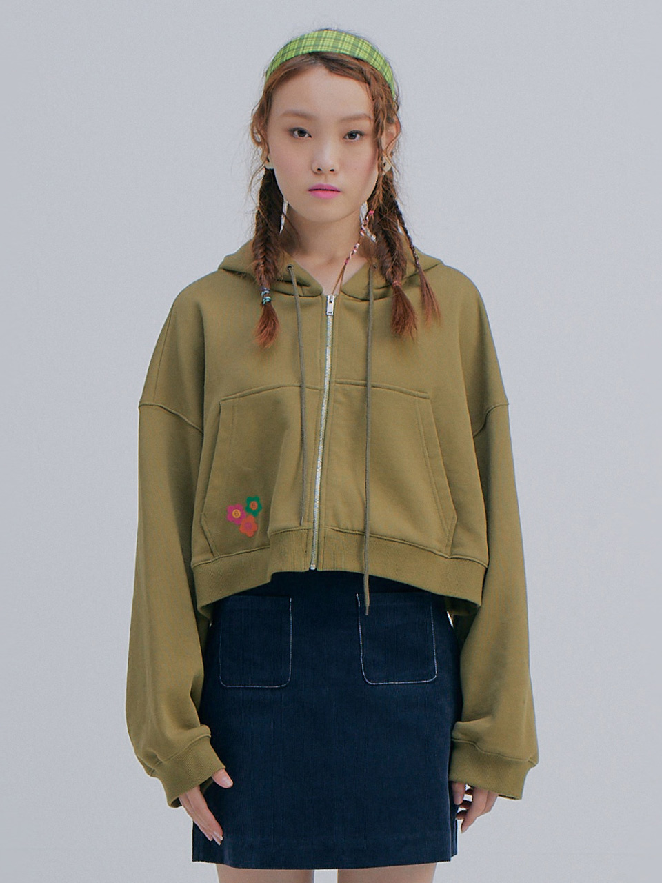Short Hood Jumper_Khaki