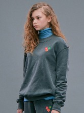 Flower Sweatshirts_Charcoal