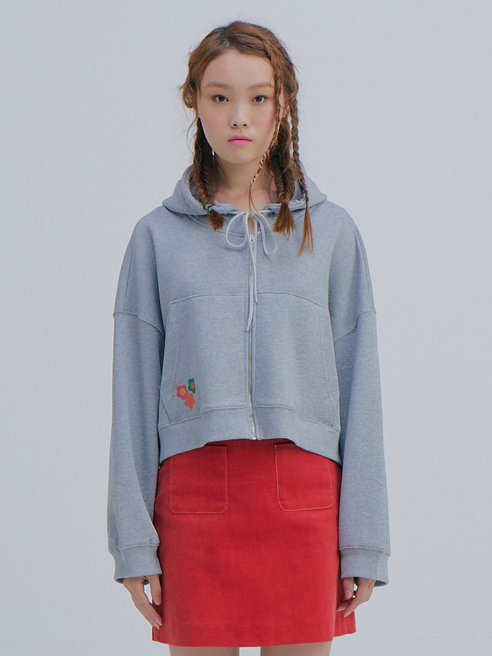 Short Hood Jumper_Grey