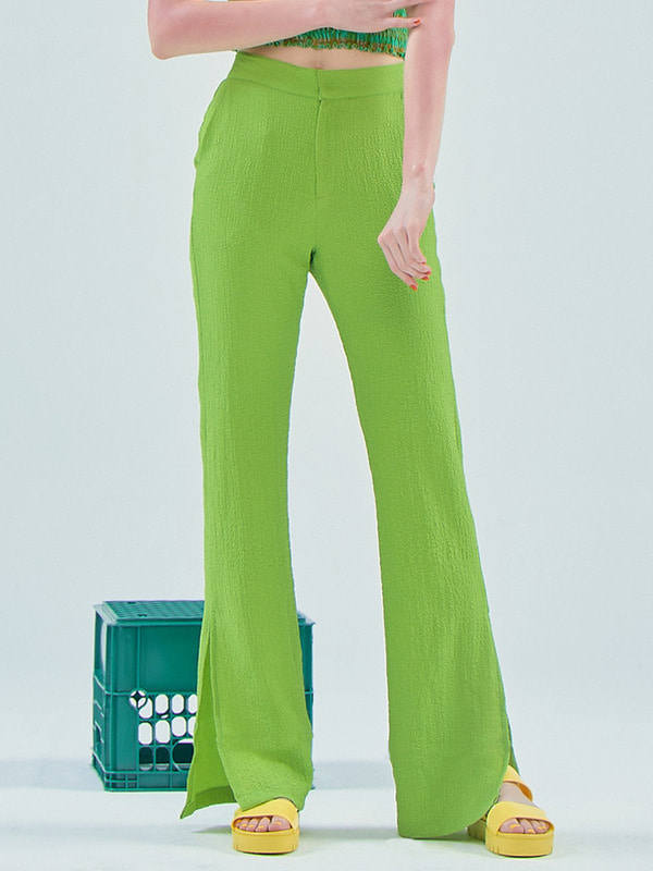 Slim pants / Light Green