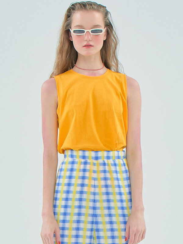 Boxy Sleeveless T / Yellow