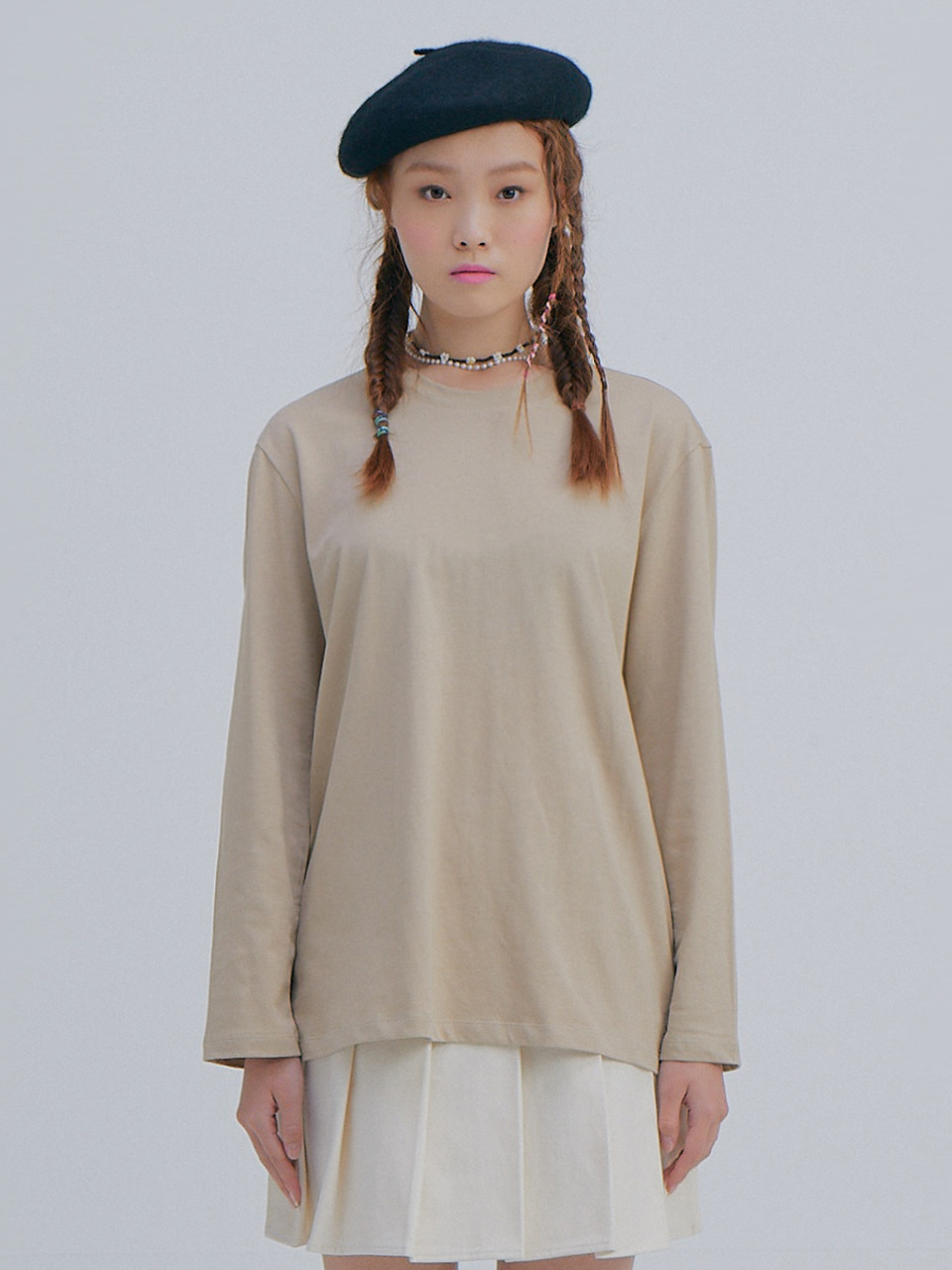 Basic Long Sleeve T_Beige