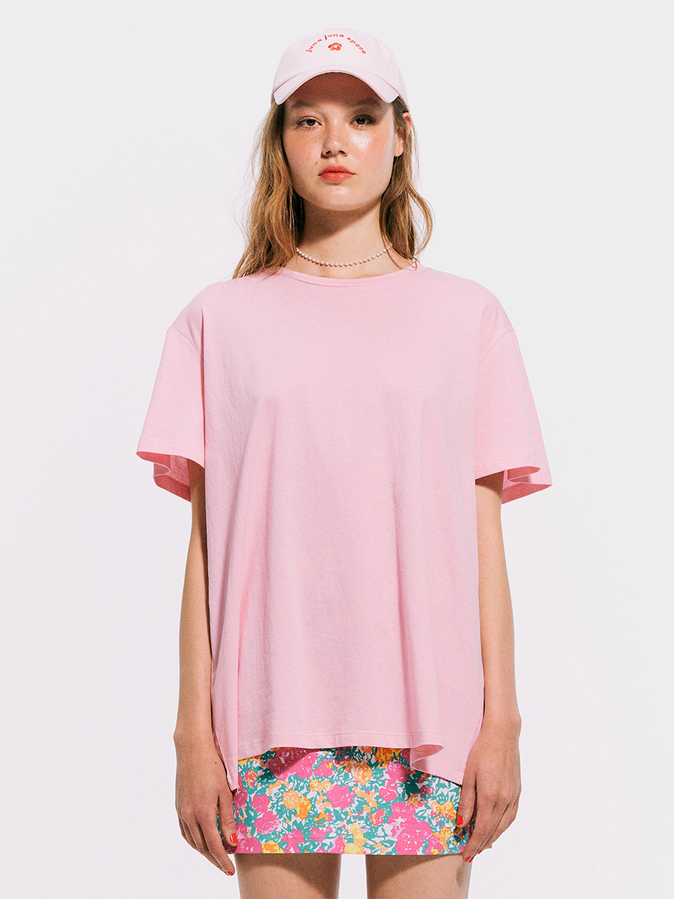 Boxy T shirt_Light Pink
