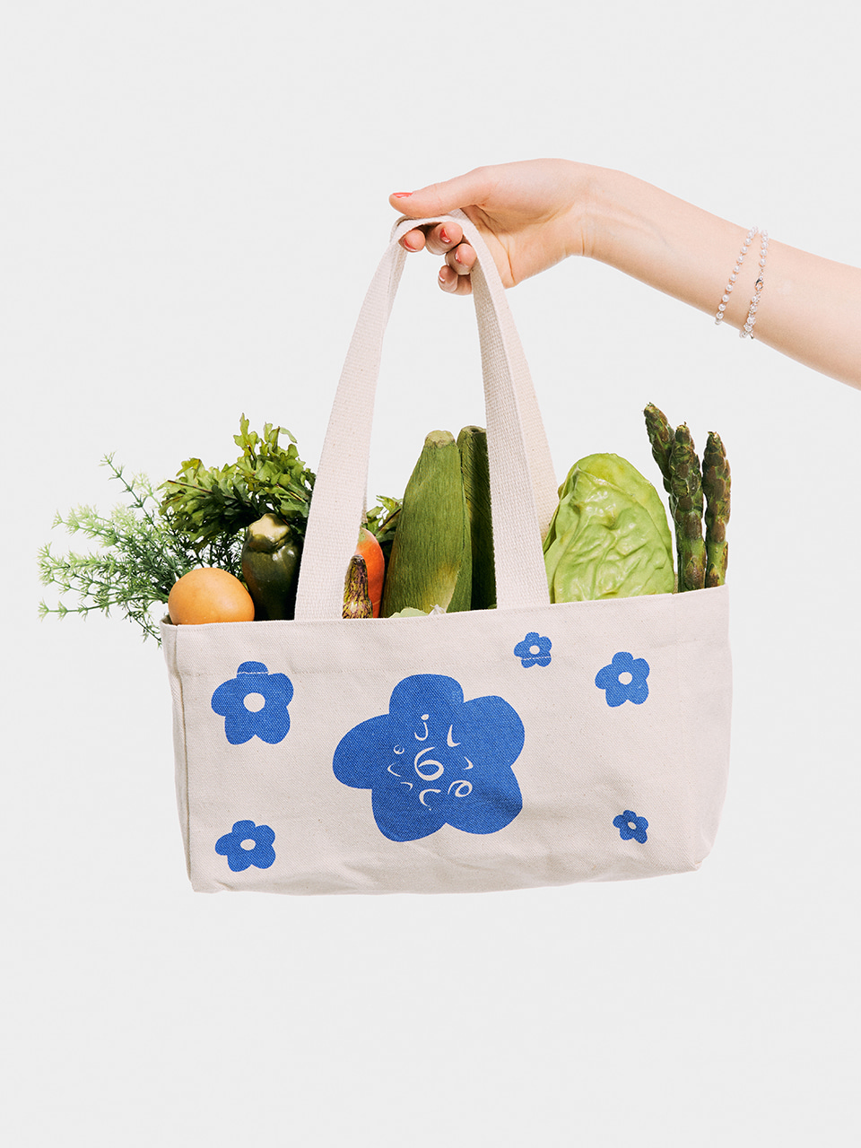 Flower Eco Bag_Blue